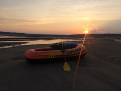 Sunset at a sand bank
