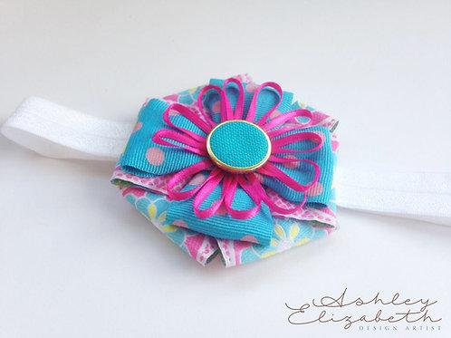 Flower Ribbon Stretch Headband