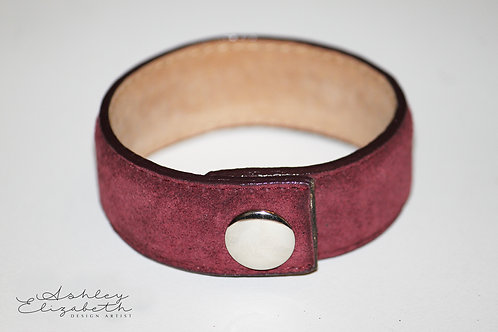 Maroon Leather Cuff