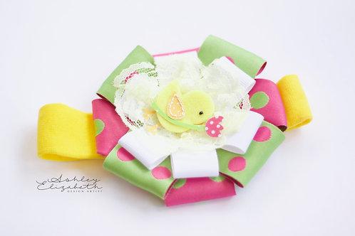 Easter Chick; Flower Stretch Headband