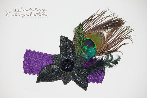 Peacock Stretch Headband