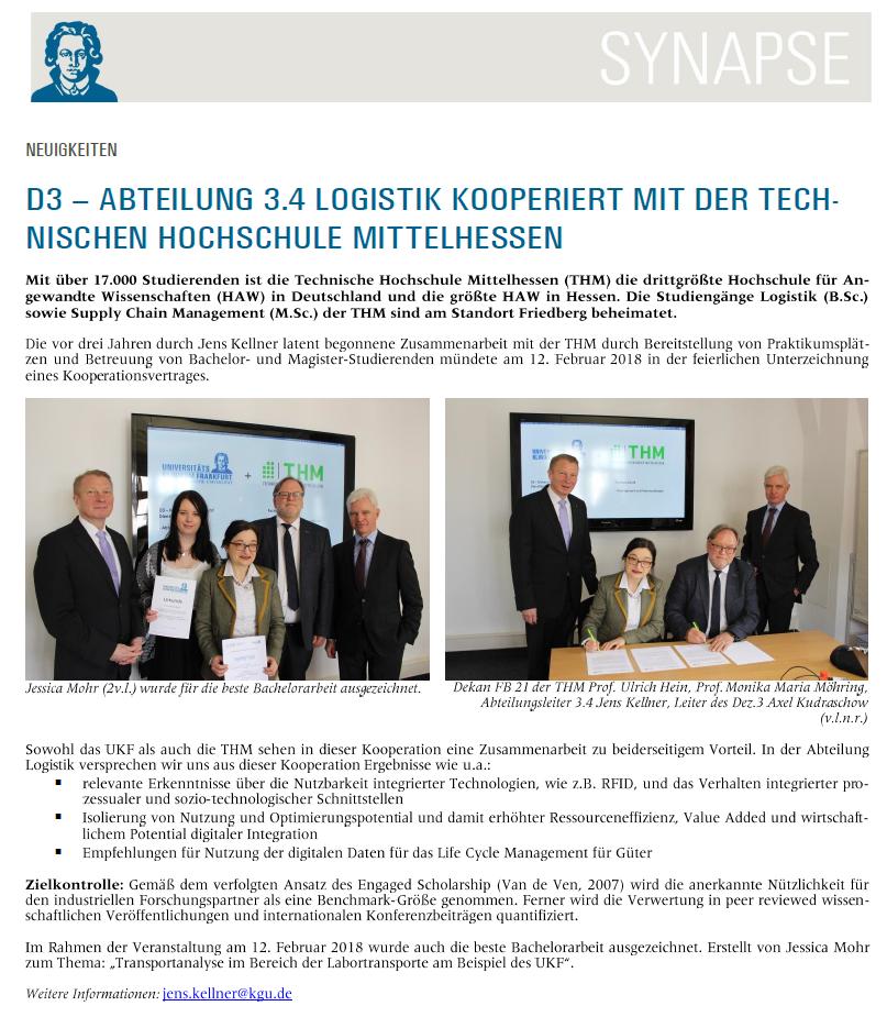 Monika Maria Möhring unterschreibt und präsentiert Kooperationsabkommen mit Universitätsklinikum Frankfurt