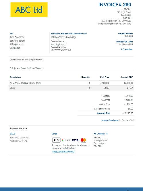 D-1 Itemised Invoice