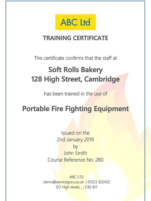 F-23 Fire Extinguishers Training Cert