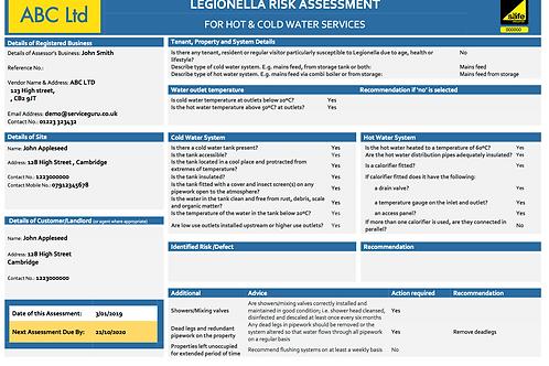 P-15 Legionella Risk Assessment