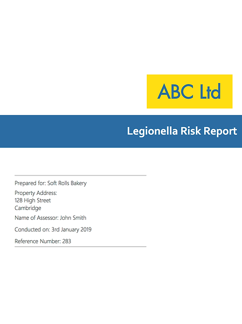 P-16 Legionella Risk Report
