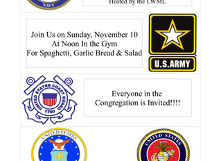 LWML Sponsored Lunch in Honor of CPLC Veterans