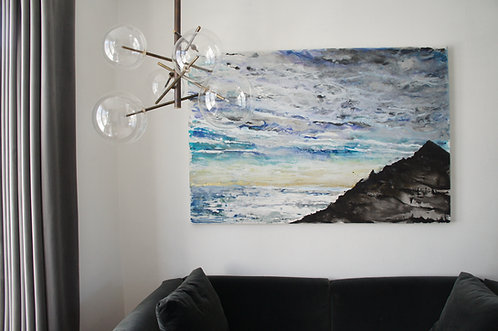 Sunset Silhouette: Original Painting