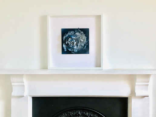 Blue Rose Framed