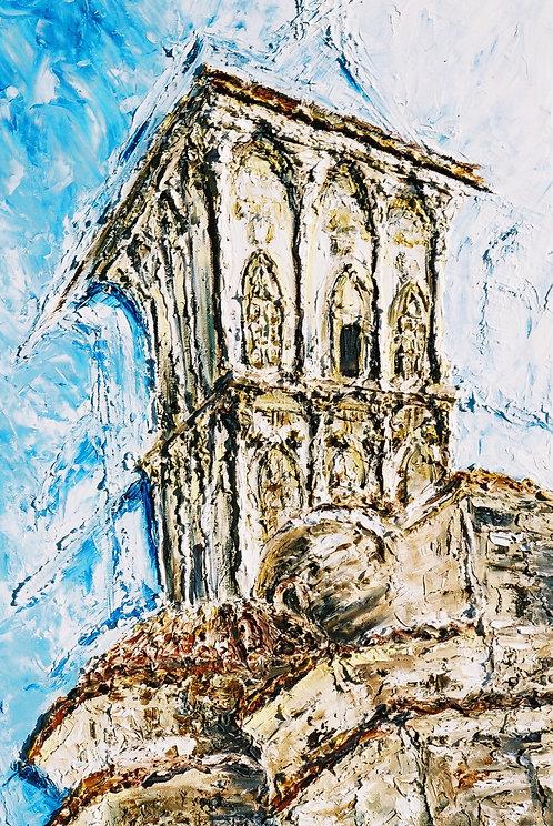 Ayios Lazeros Steeple II: Original Painting
