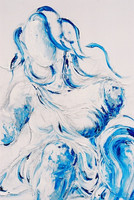 Untitled (Blue Lady)Detail
