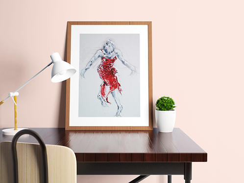 Lady Greek Dancing I: New Limited Edition Print
