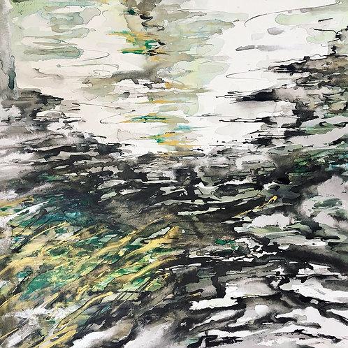 Bridge Under Water: Original Painting