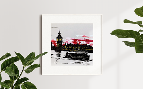 Big Ben At Dusk: Limited Edition Print