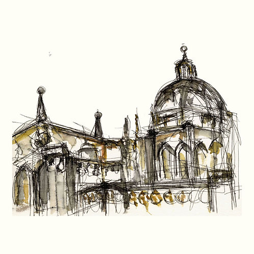 Toledo Cathedral Facade: Notebook Study