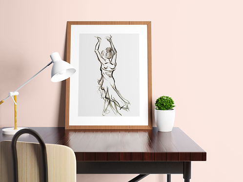 Dancing Lady Back: Limited Edition Print
