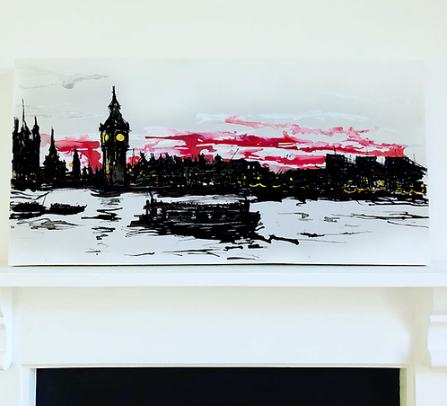 Big Ben At Dusk: Original Painting