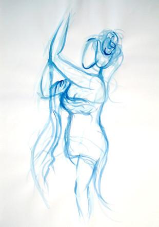 Blue Lady Sketch