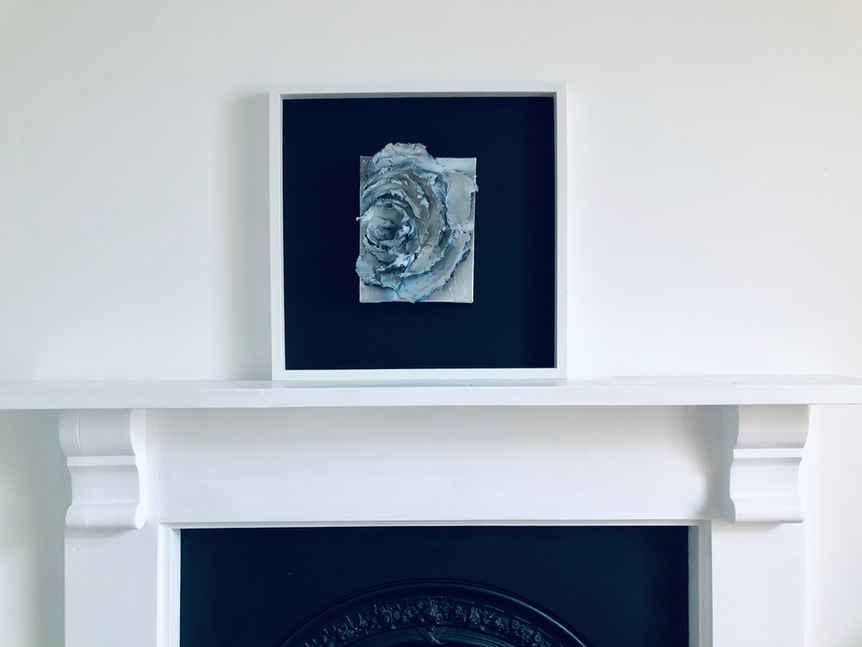 Blue Camellia Framed