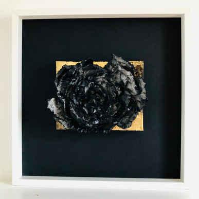 Gold Rose Framed