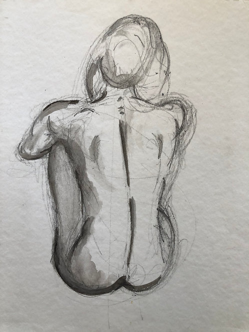 Seated Nude II: Original Study