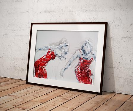 Lady Greek Dancing II: New Limited Edition Print