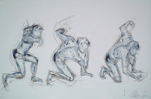 Male Greek Dancing: Original Painting