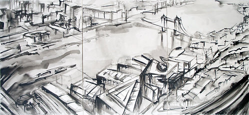 View From The Shard: Original Painting