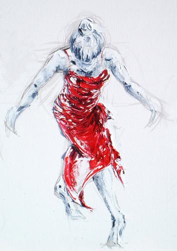 Lady Greek Dancing I (Detail)