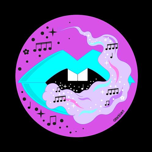 Music is a Drug Sticker