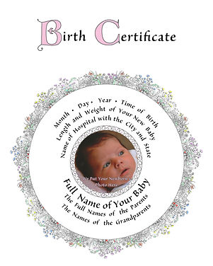 Baby Birth Certificate
