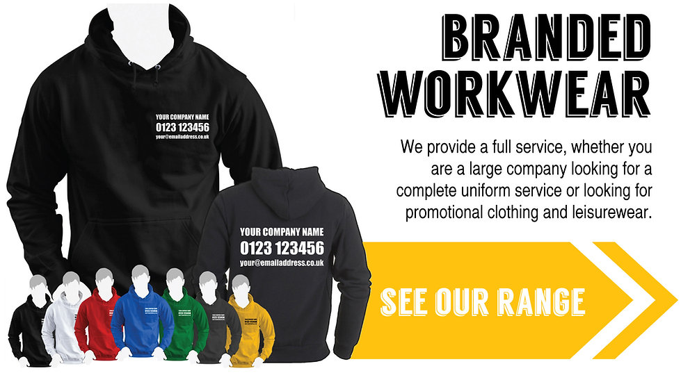 Corporate clothing and personalised workwear