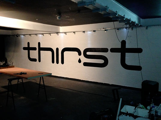 Wall graphics for thirst nightclub