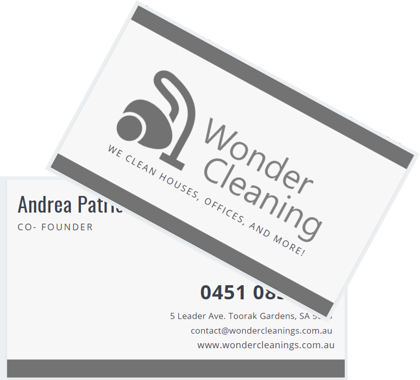 Wonder Cleaning Business Card