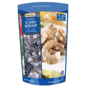 Frozen Uncooked Jumbo Shrimp