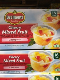 Del Monte Mixed Fruit Cups