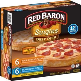Red Baron Singles Deep Dish Pepperoni