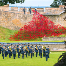 Conducting the Band of the RAF College at Lincoln Castle