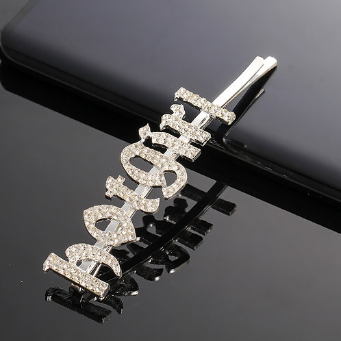 """HOT GIRL"" Bling Hair Clip"