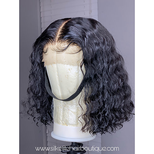 "12"" Deep Wave Custom Lace Closure Wig"