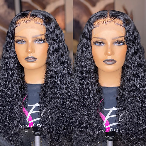 "22"" Italian Wave Custom Lace Closure Wig"