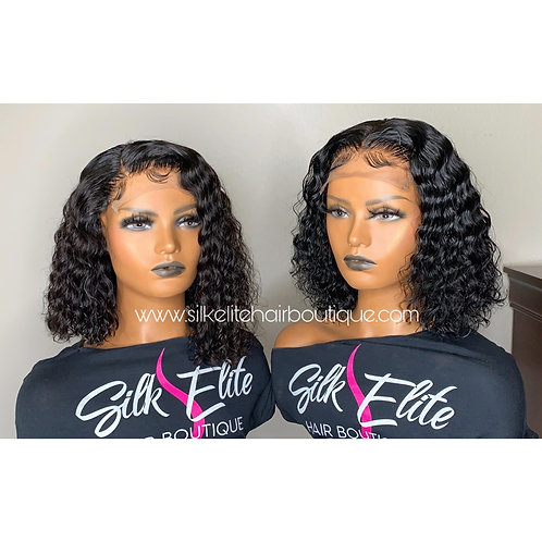 CURLY SUMMER BOB CUSTOM LACE CLOSURE WIG