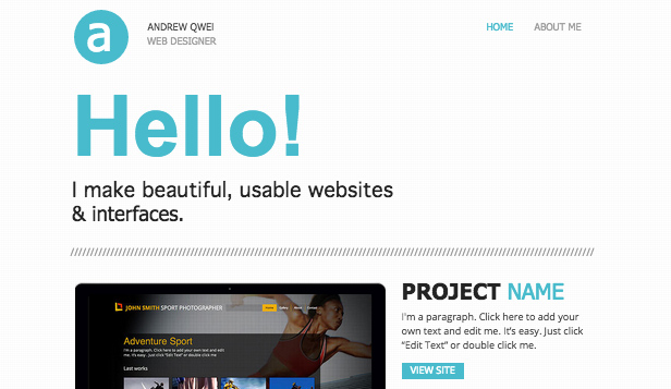 Portfolio website templates – Web Portfolio