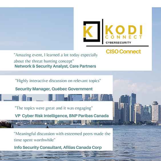 (CISO) Leaders of Cybersecurity in Canada | Virtual Roundtable