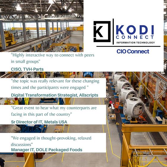 (CIO) Digital Transformation in Manufacturing   Virtual Roundtable