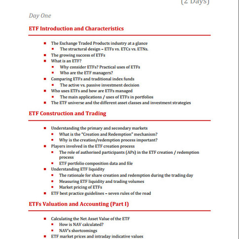 BG Course Outline EFTs