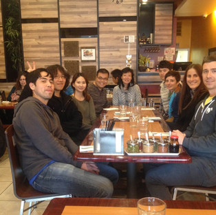 Lab lunch back in Dec, 2015