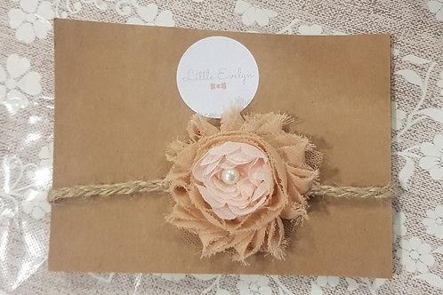 Rustic Flower Headband