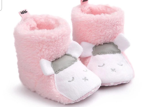 Pink Sheep Booties