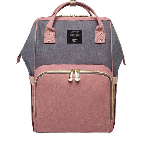 Pink and Grey Nappy Bag